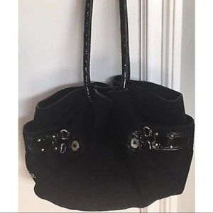 COLE HAAN Black Suede Handbag-Excellent Condition!